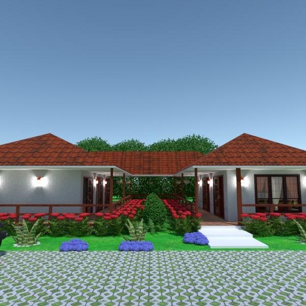 zdjęcia dom taras garaż oświetlenie krajobraz pomysły