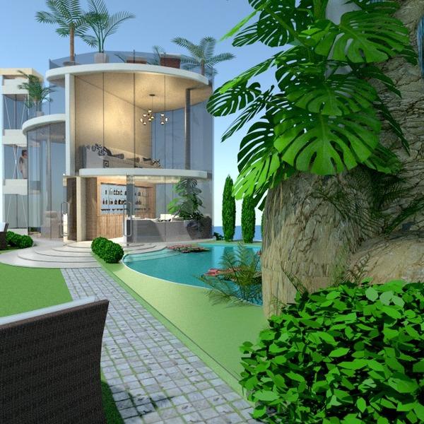 nuotraukos namas terasa svetainė kraštovaizdis аrchitektūra idėjos