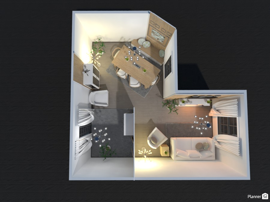 (Design Battle) White Wood Living and Dinning 83450 by Fireheart image