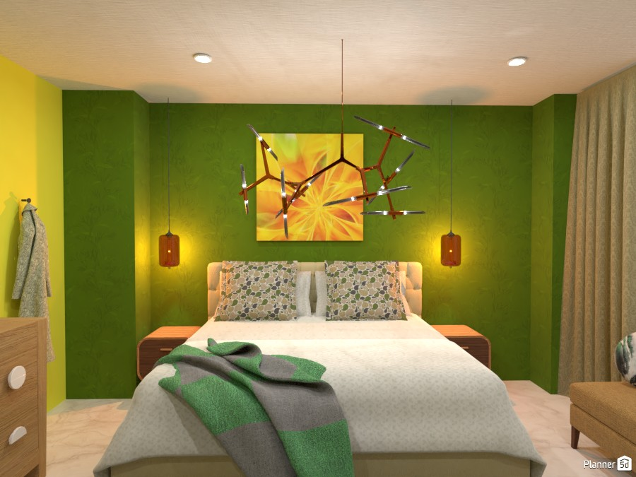 Bright green and yellow contrast walls 4624322 by Born to be Wild image