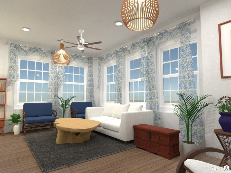 Summer room in nautical shades 4436064 by Born to be Wild image
