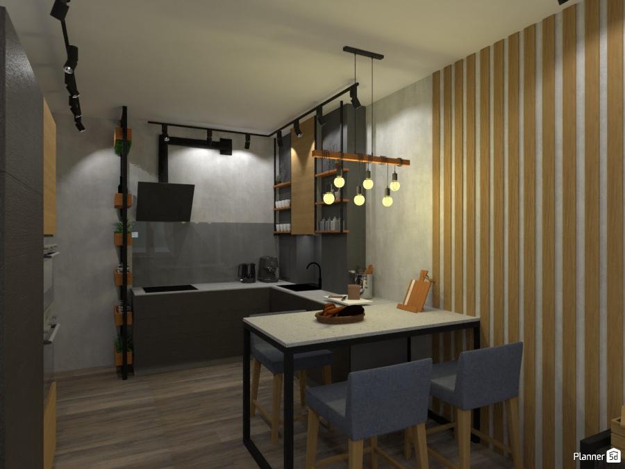 дизайн кухни в стиле лофт 2756059 by Татьяна Максимова image