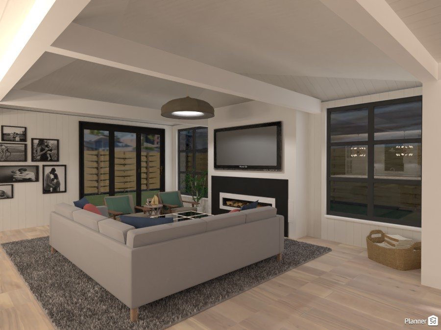 Scandinavian Beach House - Living Room 4580482 by Isabel image