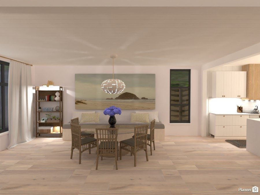 Scandinavian Beach House - Dining Room 4580487 by Isabel image
