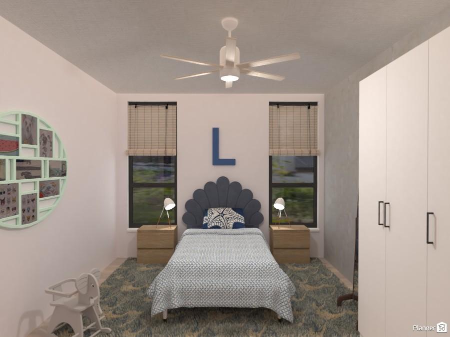 Scandinavian Beach House - Kid's Room 4580507 by Isabel image