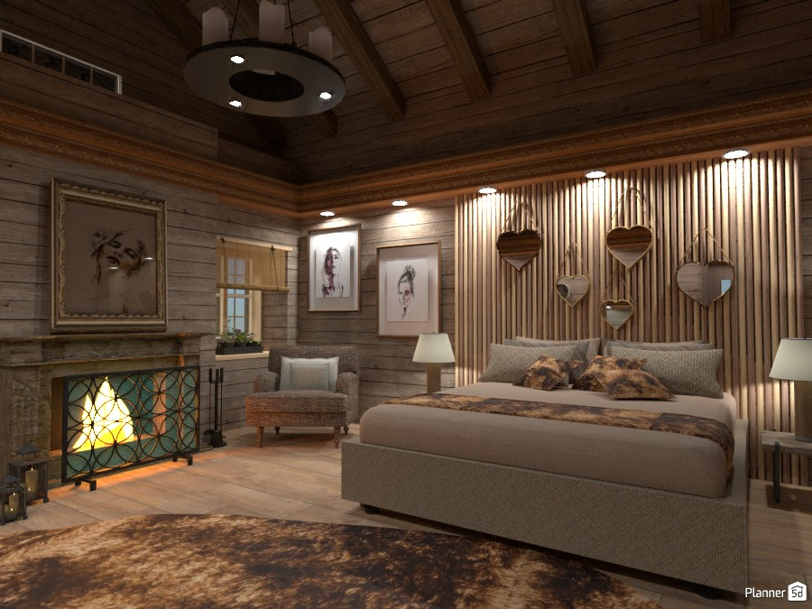 Bedroom in Montagna 3177755 by Moonface image