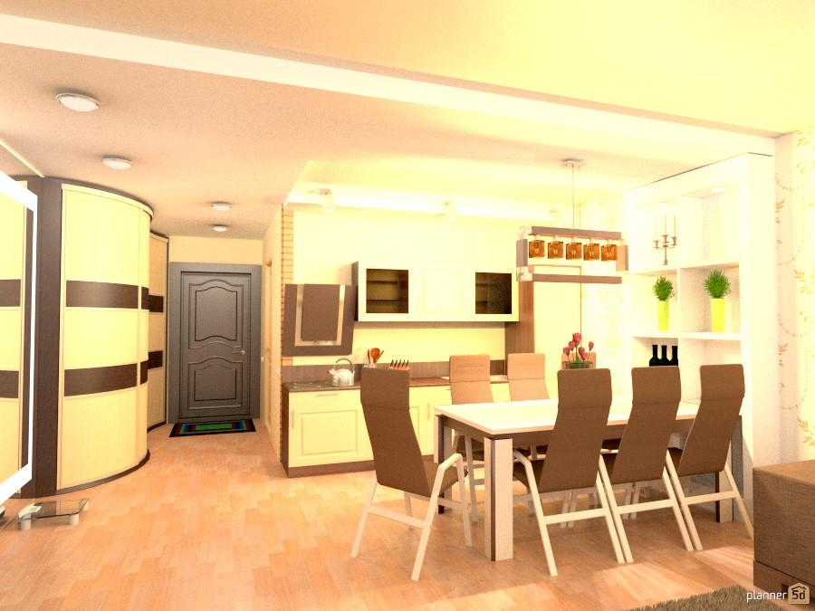 Кухня-гостиная в квартире-студии 838129 by Куля *Flying image