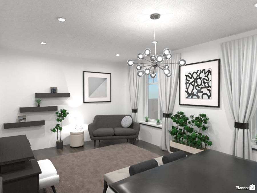 Luxurious bedroom: black and white 4351356 by Gabes image