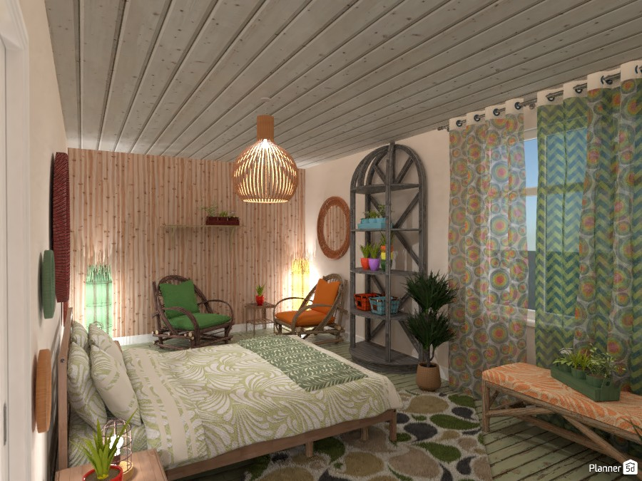 Boho style interior: Bedroom 3570873 by Moonface image