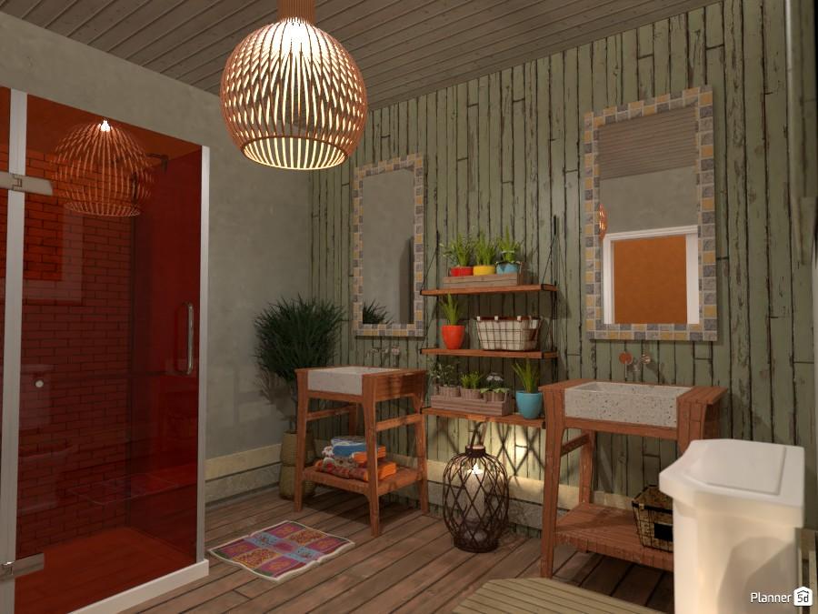 Boho style interior: Bath 2 3567275 by Moonface image