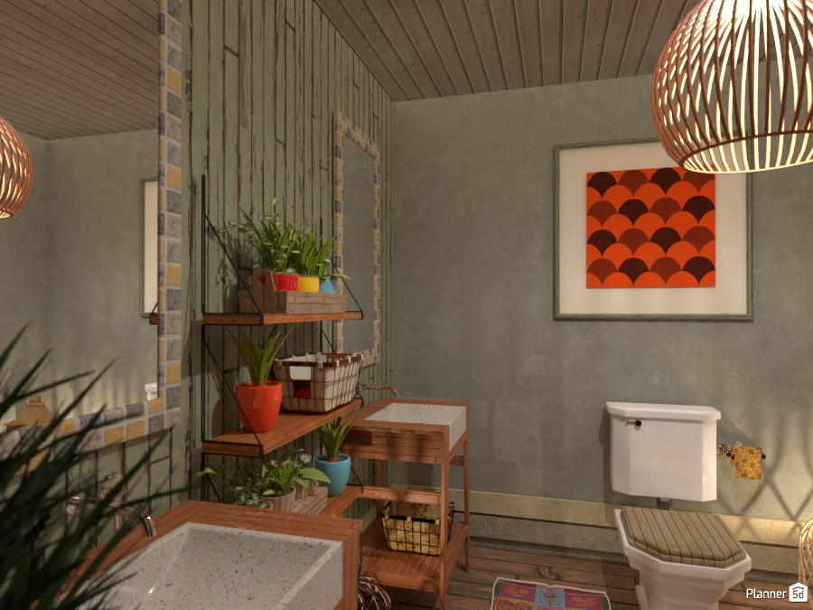 Boho style interior: Bath 3567277 by Moonface image