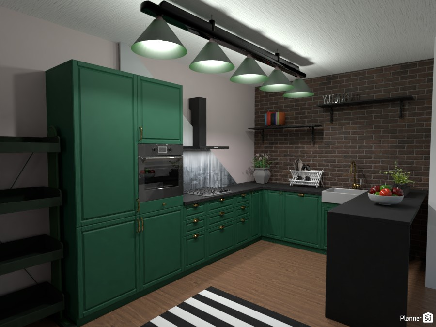 dark green kitchen 4440181 by Anonymous:):) image