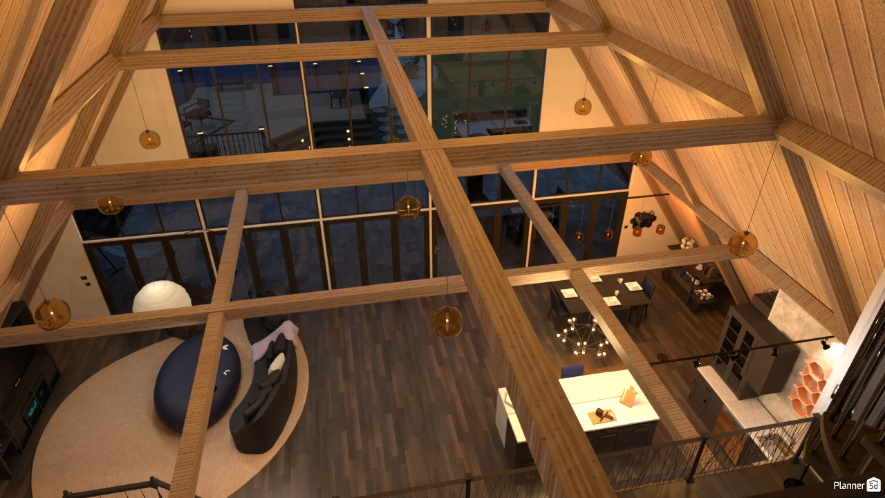 A-Frame 3rd story loft looking down 3987473 by Ama image