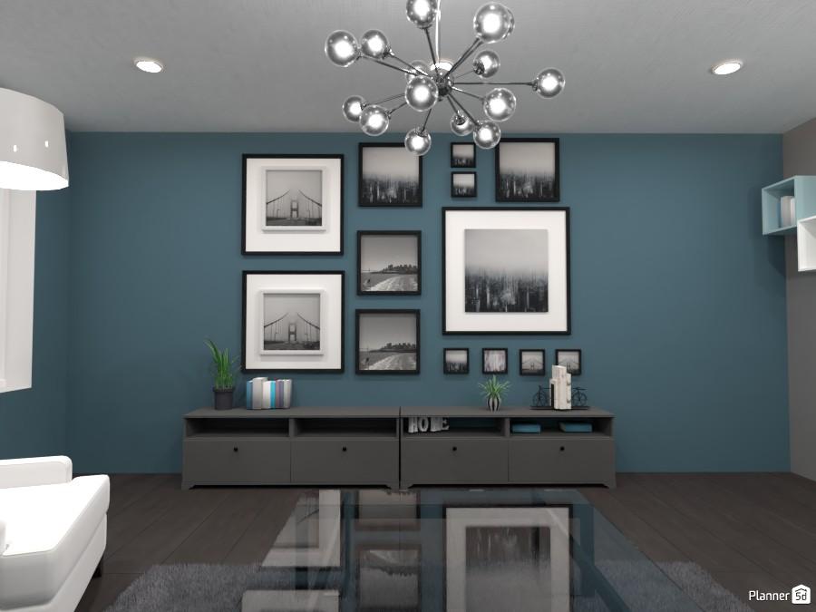 Living room with many paintings 4567753 by Huzaifah Al-Quraishi image