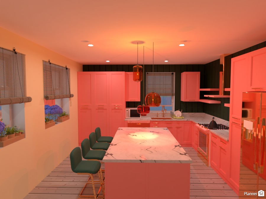 Colourful Kitchen 4488347 by Mia image