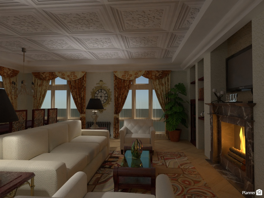 SALONE: Angolo living con camino 2506482 by Moonface image