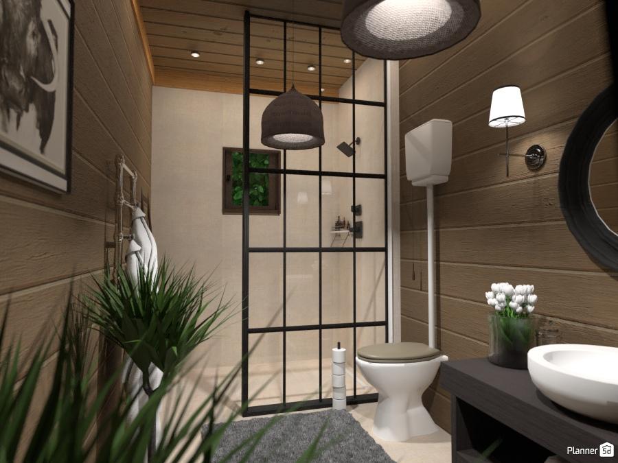 Ванная комната в стиле шале 72305 by Татьяна Максимова image