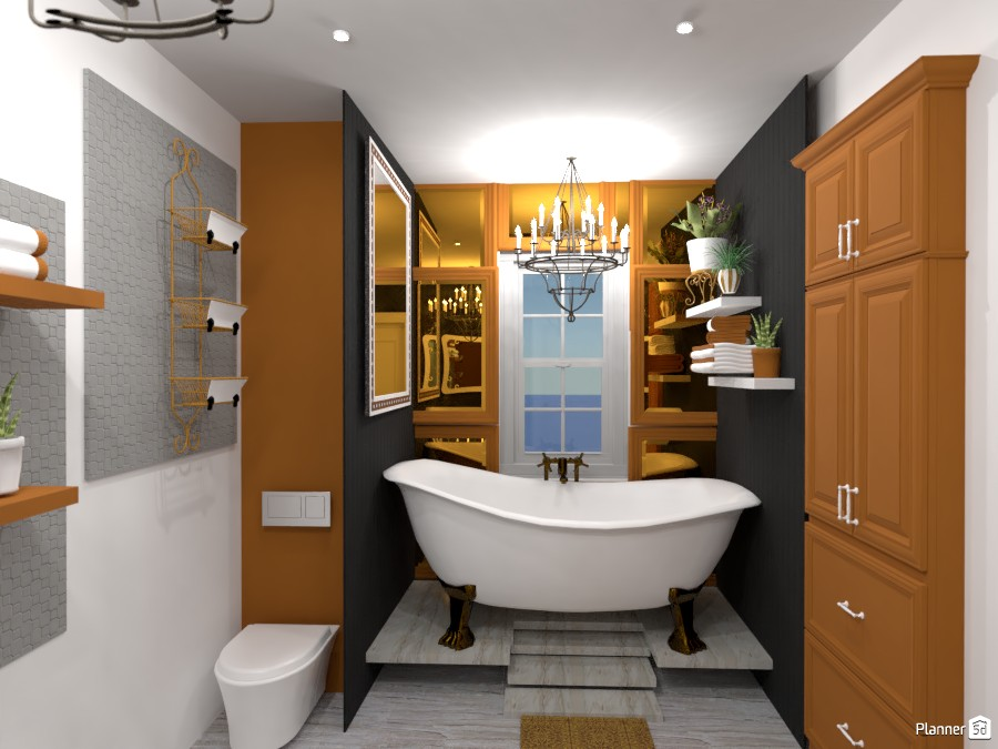 classic gold and black bathroom 4952407 by Anonymous:):) image