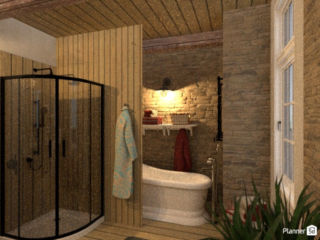 Bathroom of a rustic country house 84257 by Fede Lars image