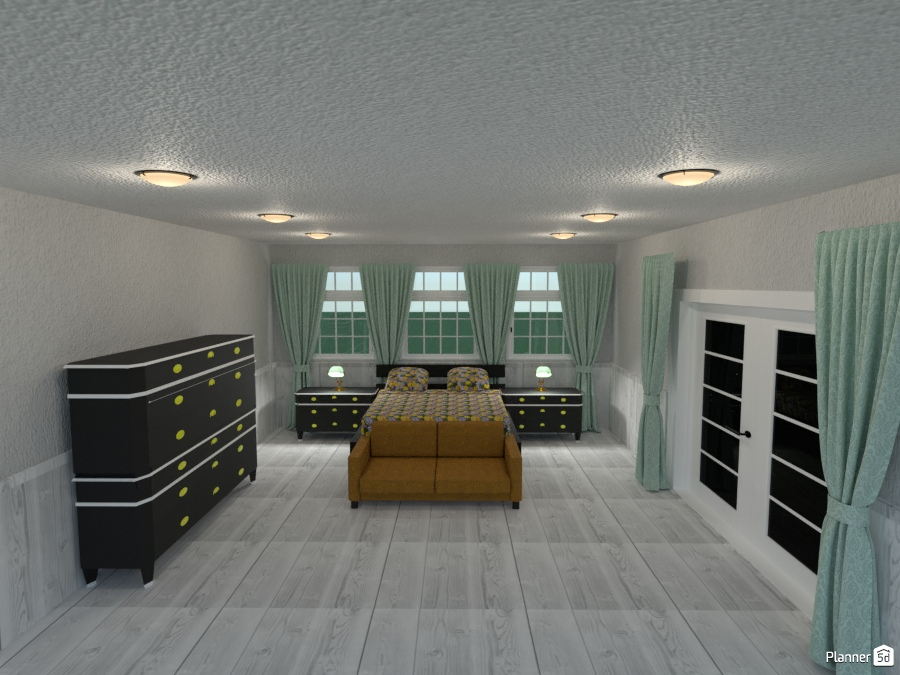 bedroom with outside double doors 2277832 by Joy Suiter image