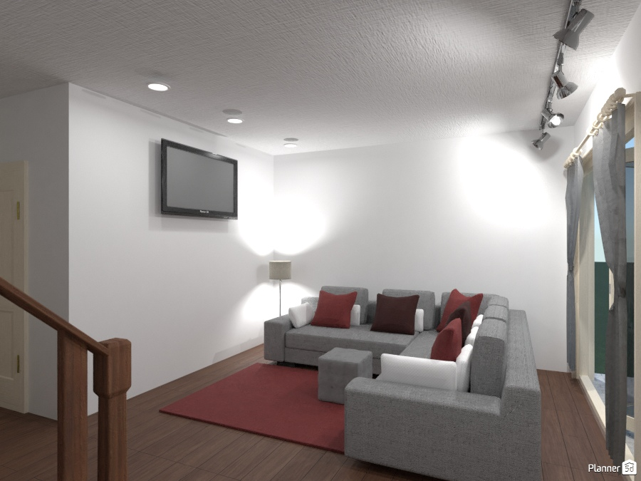Red Living Room 2622223 by Dillon Paulson image