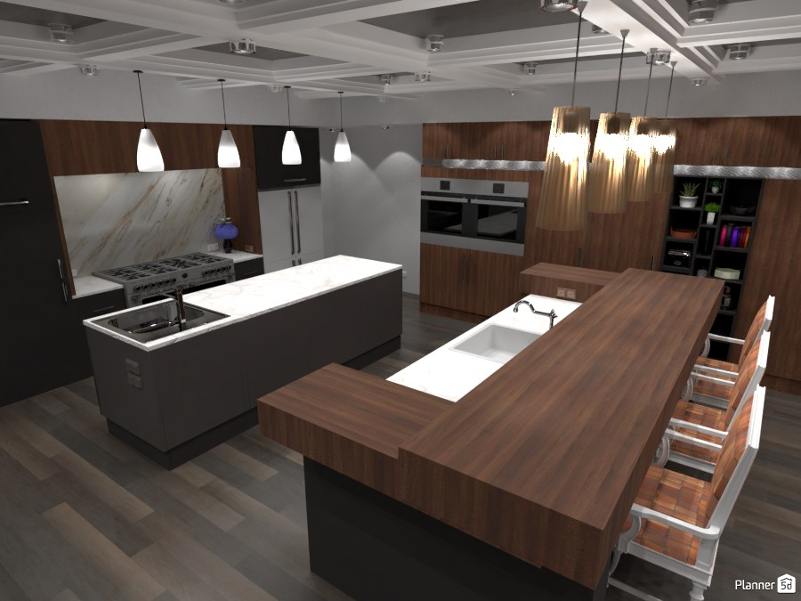 Grey and Wood Kitchen #1 3062955 by ESK image
