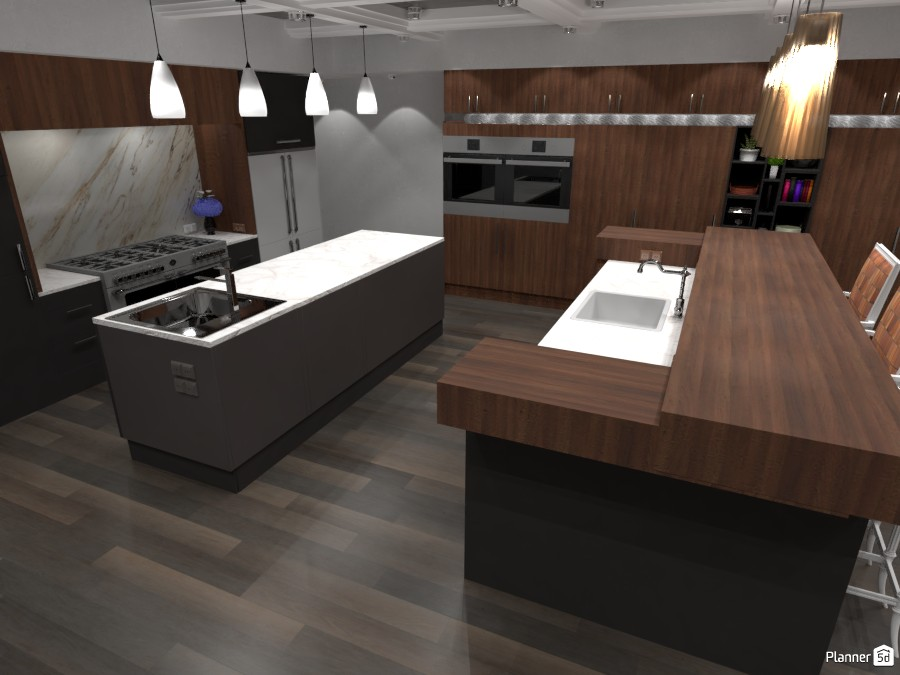 Grey and Wood Kitchen #2 3062982 by ESK image
