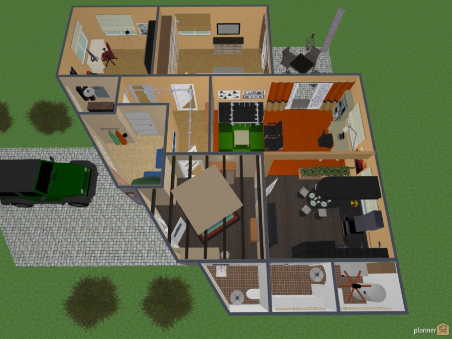 An unusual floor plan - Bungalow No .: 221 63394 by Siegfried Peter image