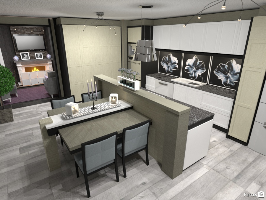 Open plan kitchen dining 2367036 by Wilson image