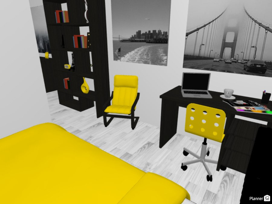 Yellow and Monochrome 83320 by Jesse image