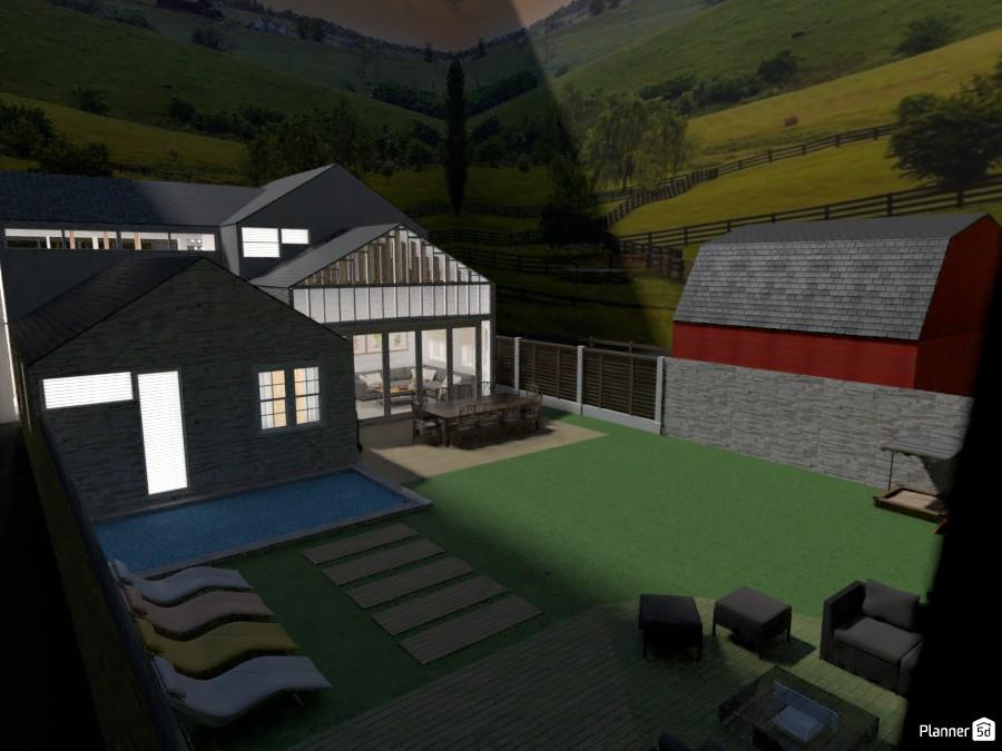 Farmhouse garden and family room 4522205 by Mia image