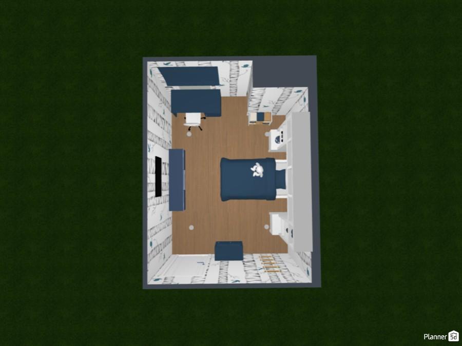 Blue & White Boy's Bedroom 85998 by devendra image