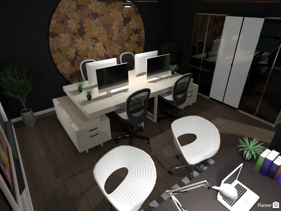 Black and White Office 82208 by Bunny image