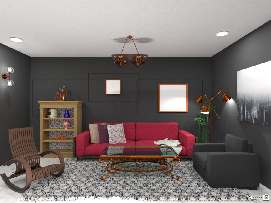 Grey/Dark pink themed living room 4495453 by Born to be Wild image