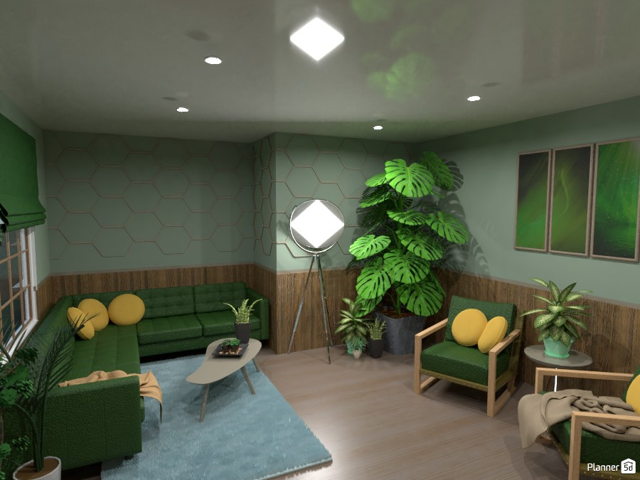 Jungle living room 4650469 by Mia image