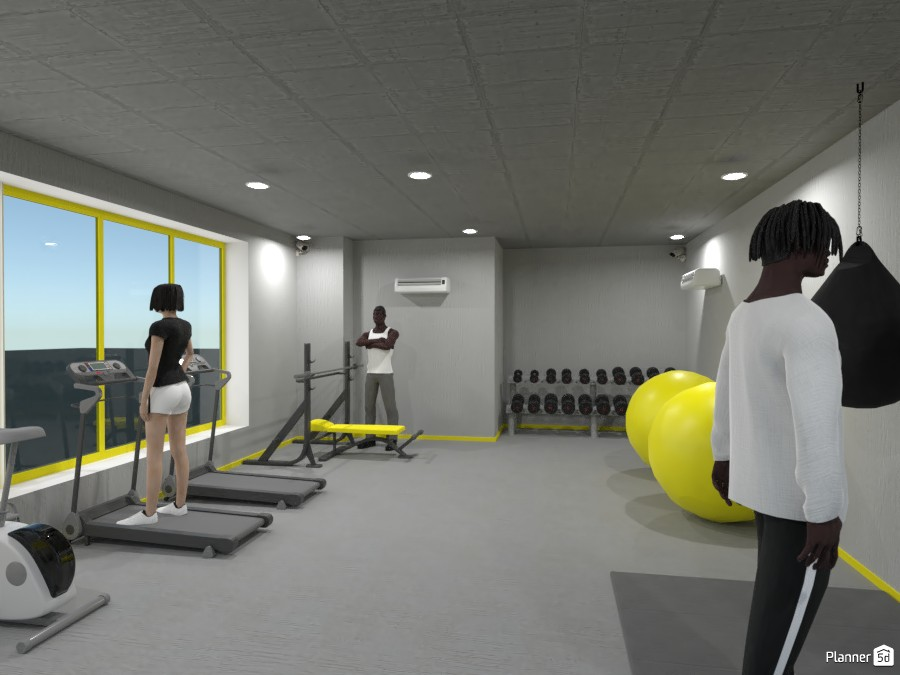 Gray & Yellow Gym 3754372 by devendra image
