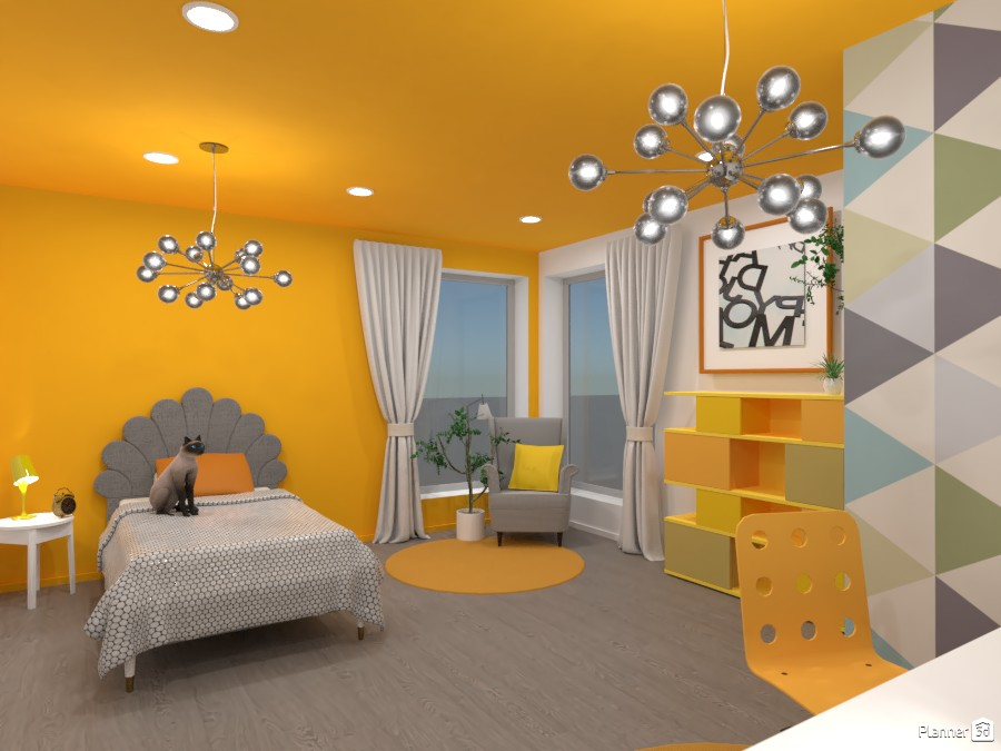 Gray and yellow interior 3867209 by Ana G image