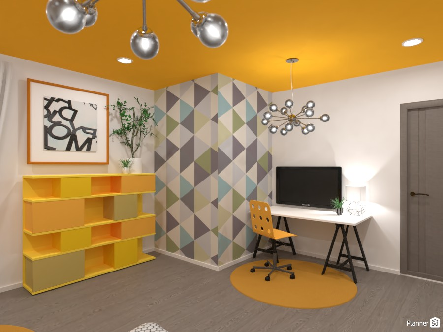 Gray and yellow interior 3867210 by Ana G image