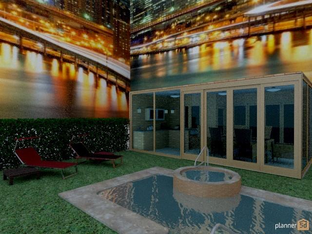casa con piscina 58390 by maria gonzalez herrero image