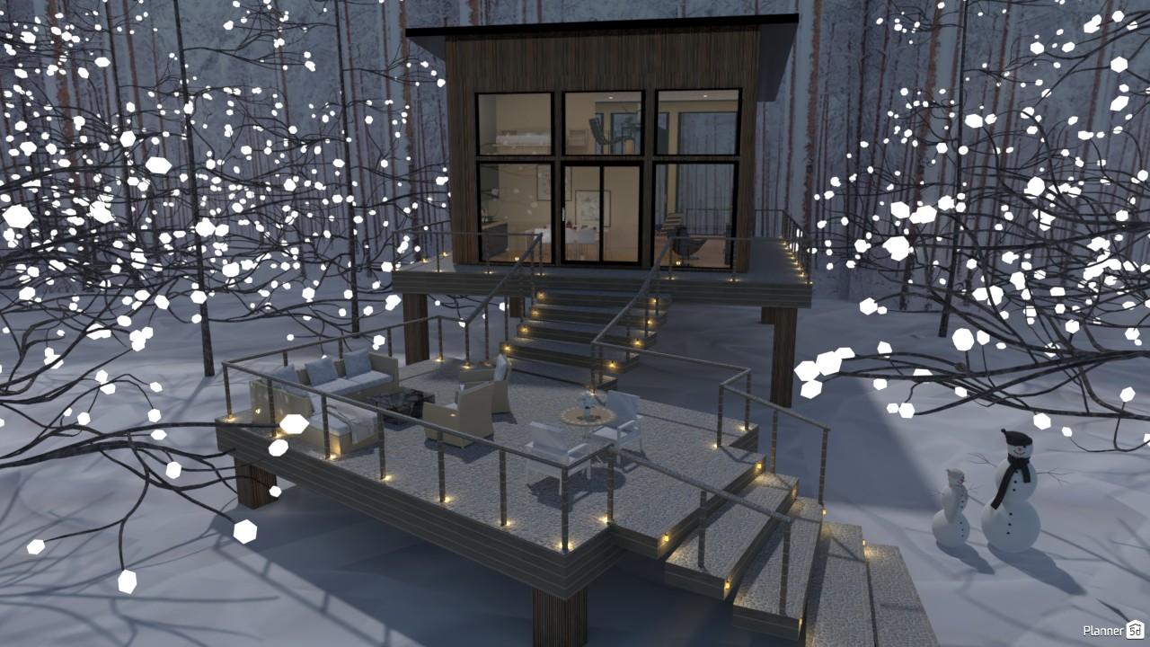 Casa con nieve. 4802273 by Hall Pat image