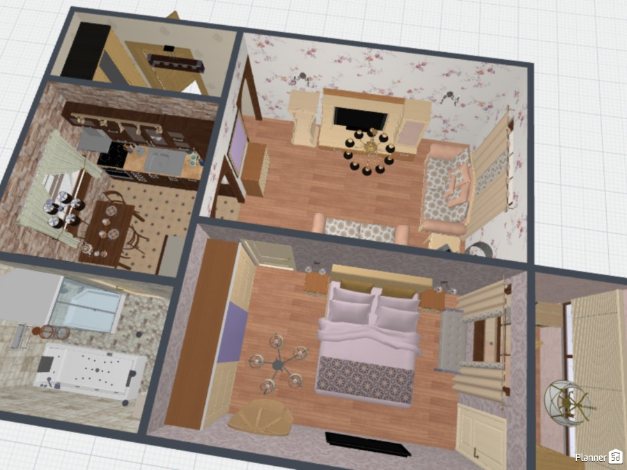 Дизайн и планировка не большой 2-ной квартиры 70746 by Ирина Михайловна image