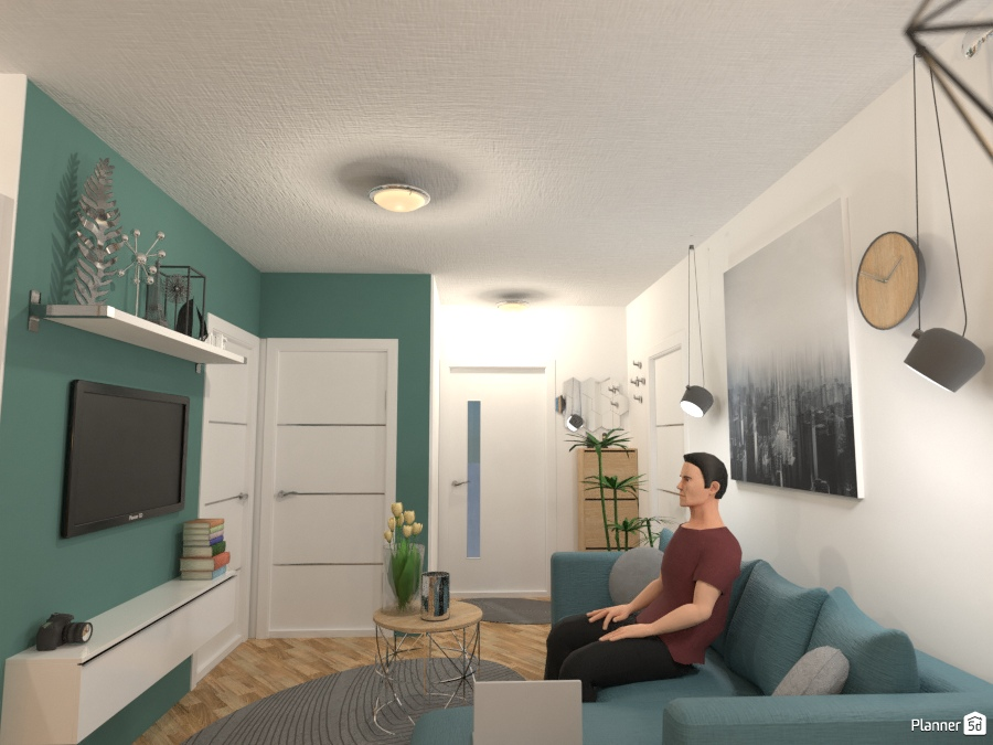 Modern one bedroom apartment 76277 by Sasa image