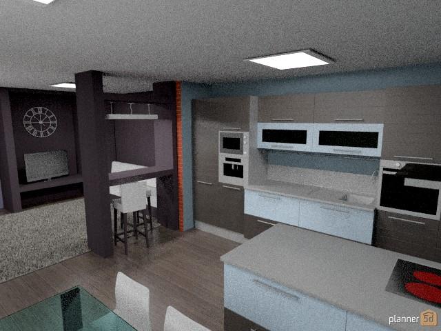 Гостиная-кухня 56312 by Анастасия Клименко image