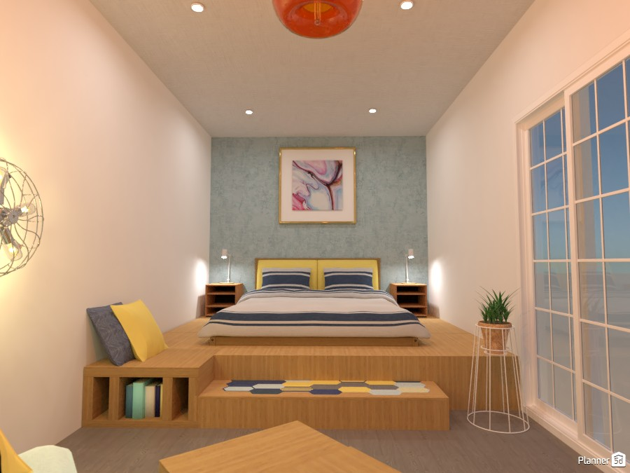 Cozy bedroom: the bed 4320706 by Gabes image