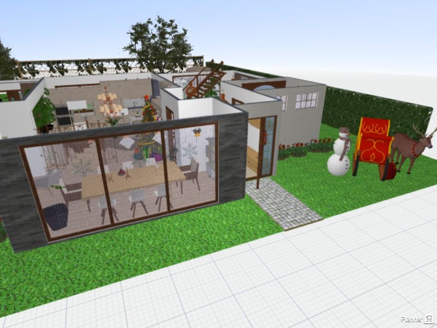 Modern House (Festive Version) ~ by SilverBirch 76695 by SilverBirch image