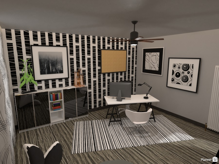 Black and white office: #2 3593567 by Moonface image