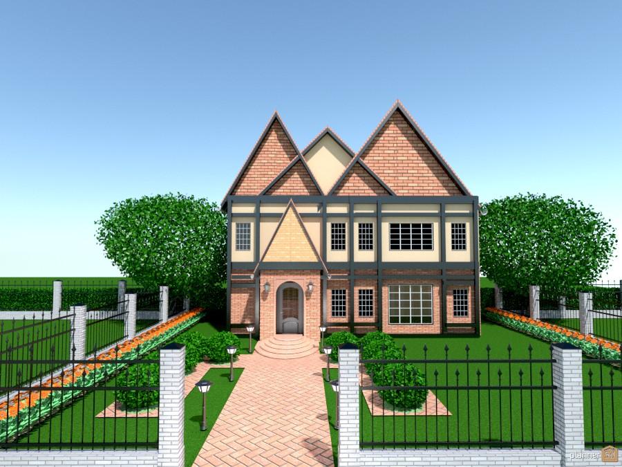 brick tudor home 58119 by Joy Suiter image