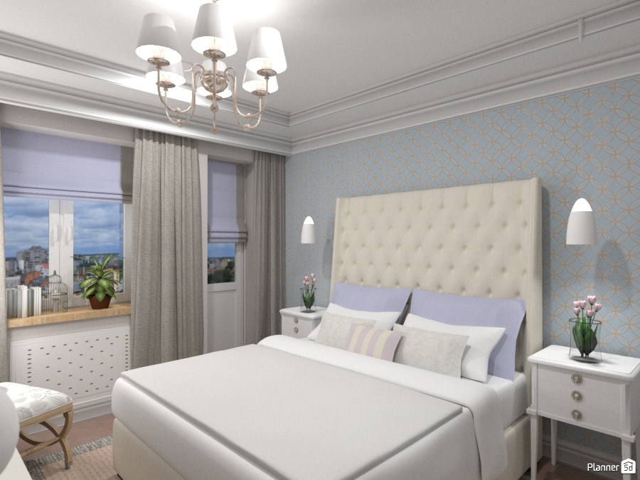 Спальня в 3к 69754 by Elena Strenova image