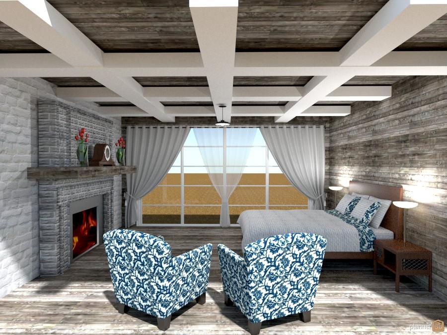 brick n painted house bedroom 1222862 by Joy Suiter image