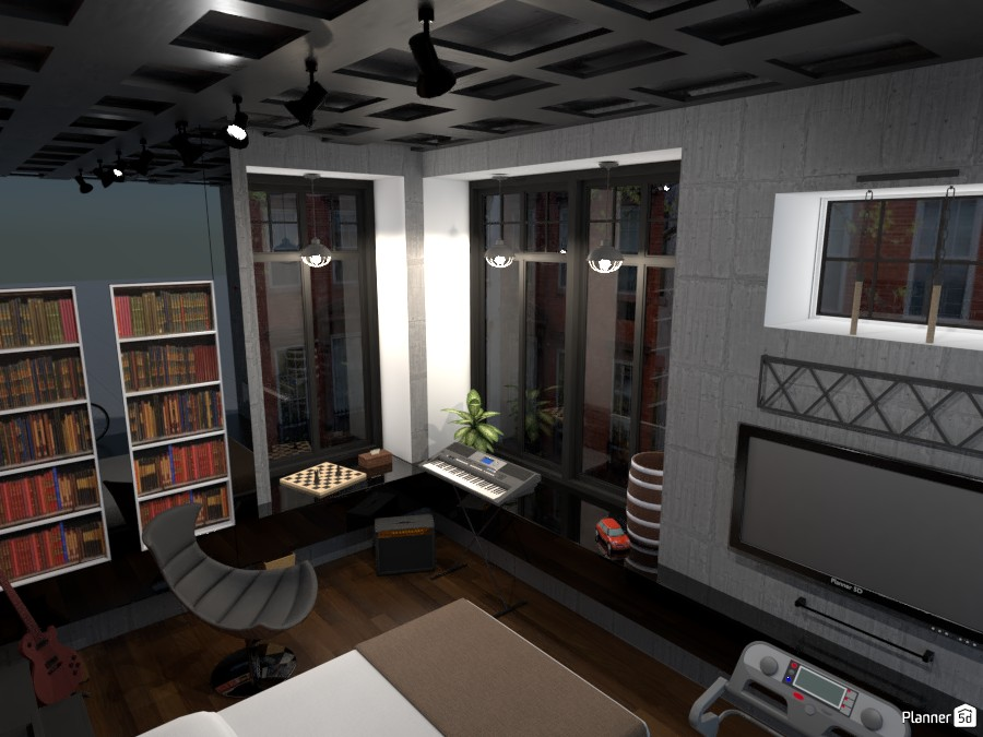 Industrial style bedroom 81895 by RLO image